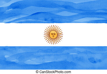 Painted flag of Argentina