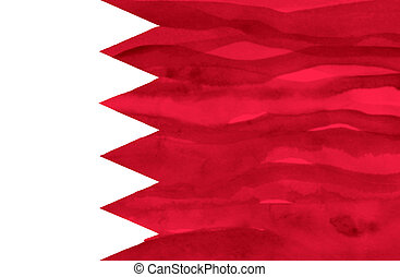 Painted flag of Bahrain