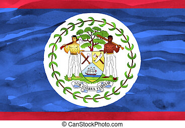 Painted flag of Belize
