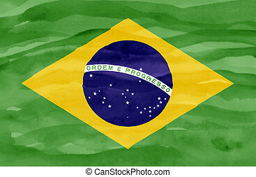 Painted flag of Brazil