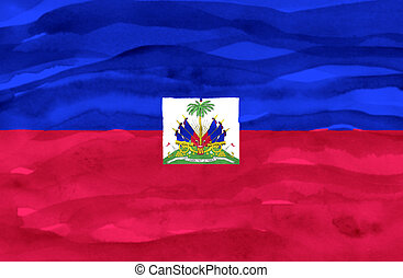 Painted flag of Haiti