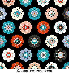 Painted flowers background