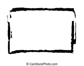 painted frame - An abstract painted ink frame