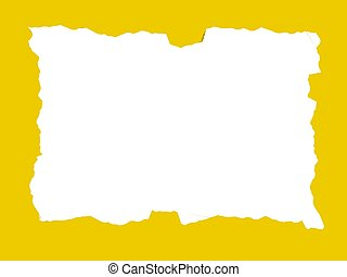painted frame - yellow painted frame
