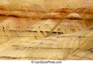 Painted Hills Oregon colorful view red and brown