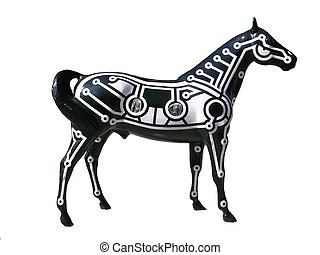horse sculpture - painted horse sculpture