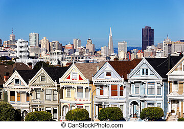 painted ladies - view from Alamo Square, San Francisco, USA