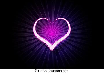 Painted light heart