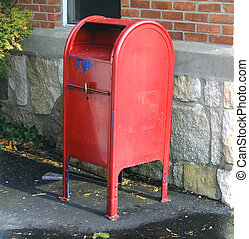 Painted Mailbox - Mailbox, painted red