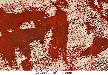 Hand painted multi layered dark red background