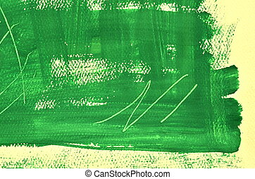 Hand painted multi layered green background with scratches