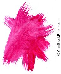 Painted Pink Background - Grunge watercolor pink painted...