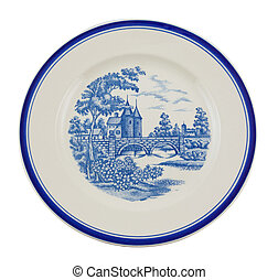 Painted plate isolated