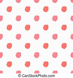 Painted polka dots red pattern