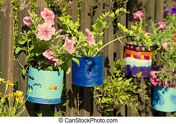 Painted pots - Colorful hand painted pots with beautiful ...