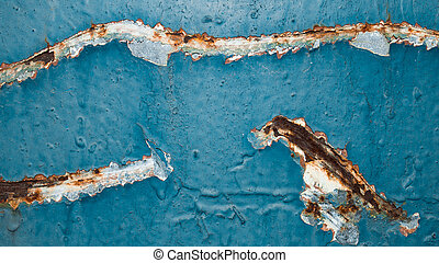 painted rusty wall