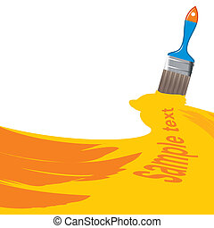 painted sample text field - vector illustration