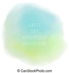 Painted sea blue watercolor background.