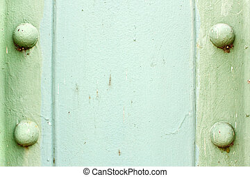 Painted Steel Background - A light green painted metal...