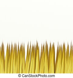 painted straw field isolated on white textured canvas ...