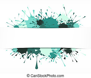 Painted style vector background