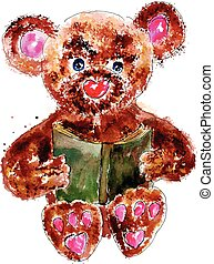 Painted Teddy Bear