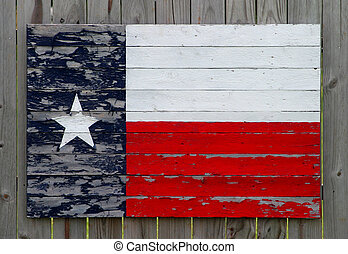 Painted Texas Flag - Texas flag made from painted wood slats...