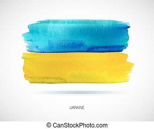 Painted Ukraine flag. Vector