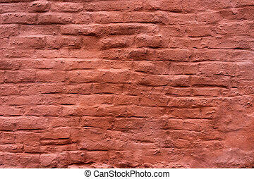 Painted uneven brick wall