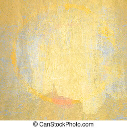 Painted wall background, grunge and circle stain