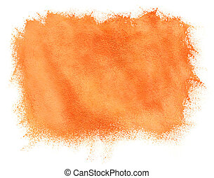 Painted watercolor orange background