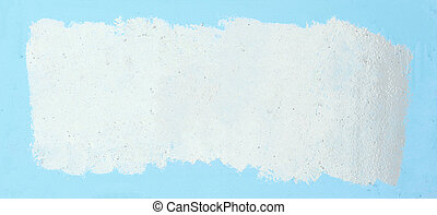 painted white frame on a blue background. photo with copy space
