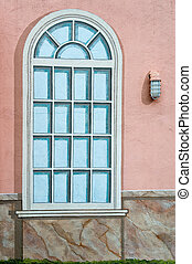 Painted Window - A mural of a classic style window, with a...