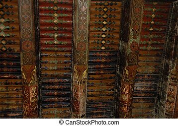 Painted wooden ceiling, Samarkand