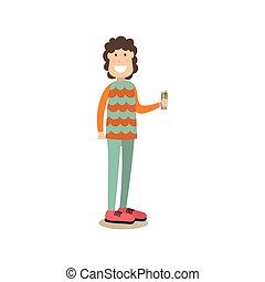 Painter artist vector illustration in flat style