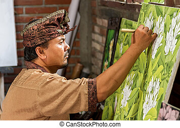 Painter at work