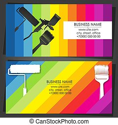 Painter decorator business card with tool