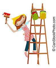 Painter girl.