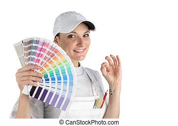 Painter has finally chosen a color
