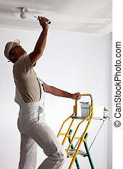 Painter on a ladder