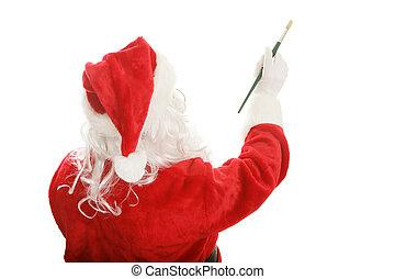 Painter Santa - Design Element