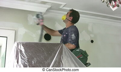 Painter - Professional painter painting the wall