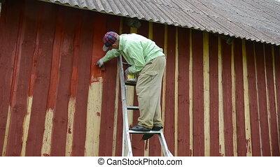 painter wall brush