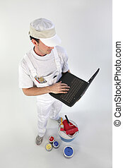 Painter with computer