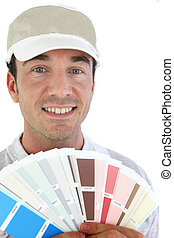 Painter with sample