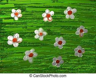 daisy background - painterly daisy background