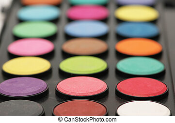 Painter's palette - shallow depth of field