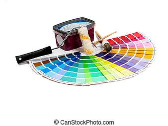 painters utensils - colorful painter utensils