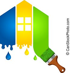 Painting a house for business