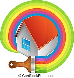 Painting a house symbol